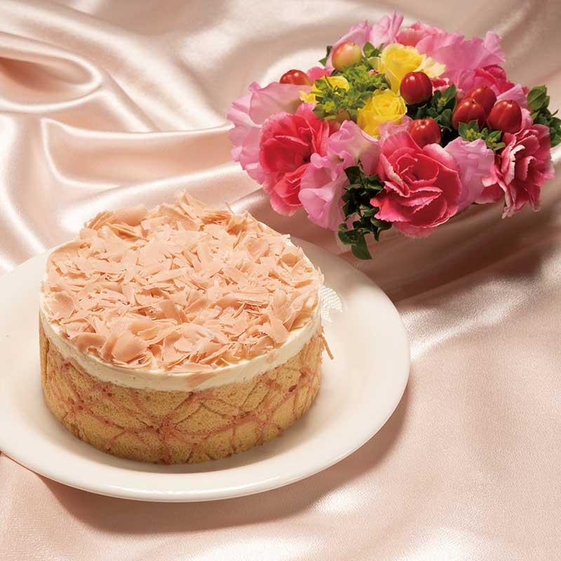 お花といちごヨーグルト画像