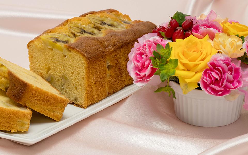 バナナのロールケーキ画像