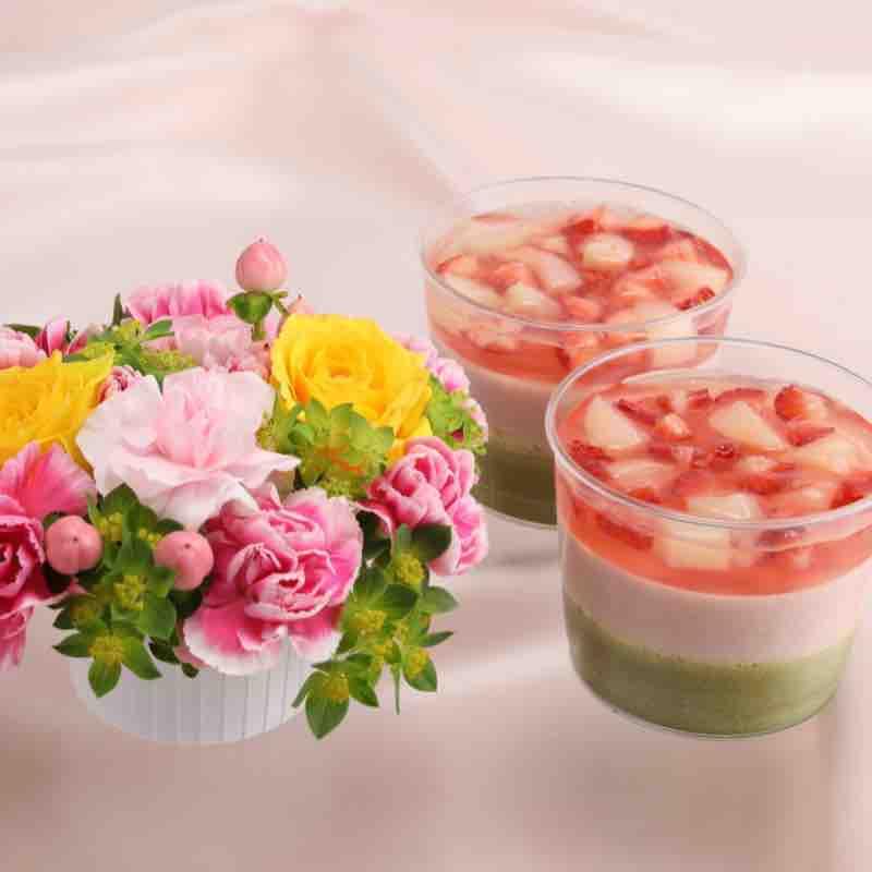 お花と「ブロッサム」のセットの画像
