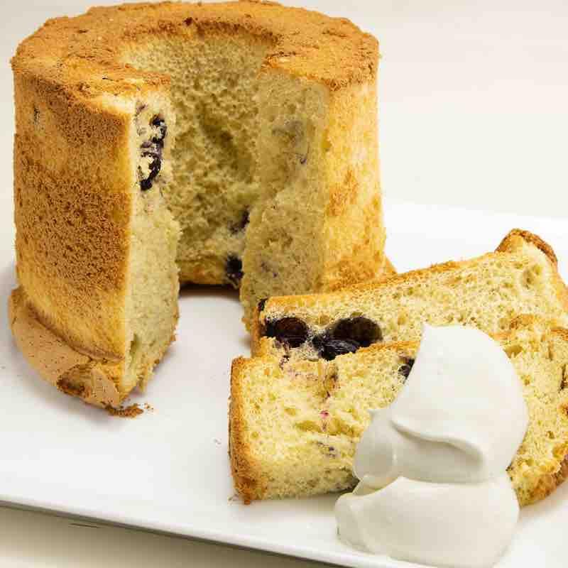 ブルーベリーのシフォンケーキの画像