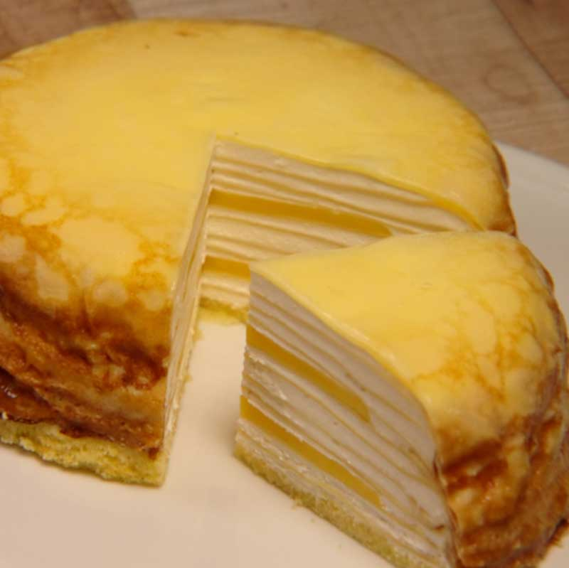 レモンのミルクレープの画像
