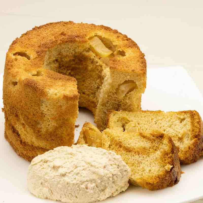 ラフランスとカラメルのシフォンケーキ